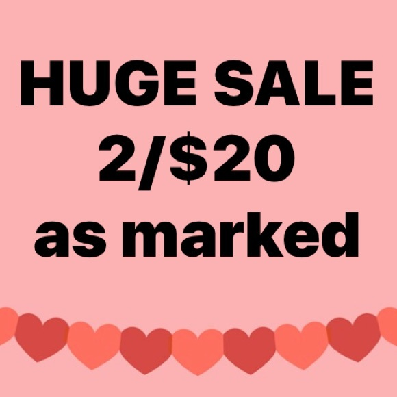 2 /$20 markdowns as marked!